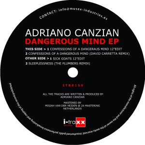 Adriano Canzian – Dangerous Mind EP 12″